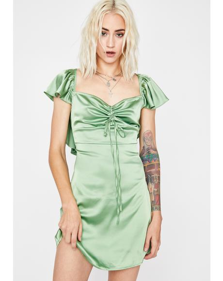 Ruff Luv Satin Dress