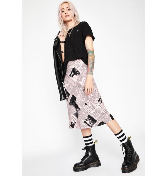 Sweetie You've Been Read Midi Skirt