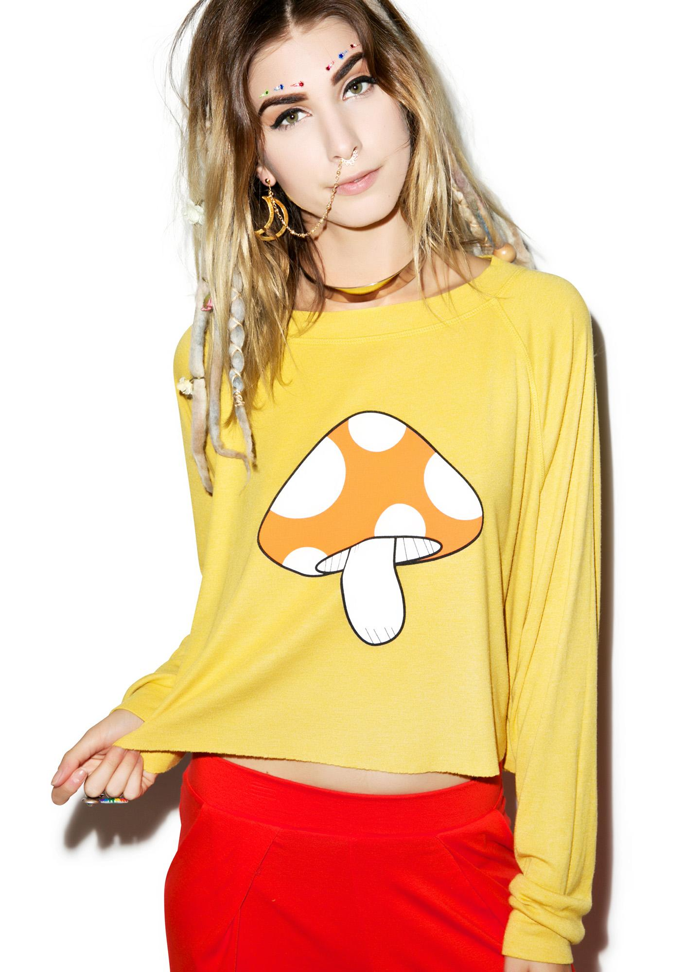 Wildfox Couture Fairyland Monte Crop Sweater