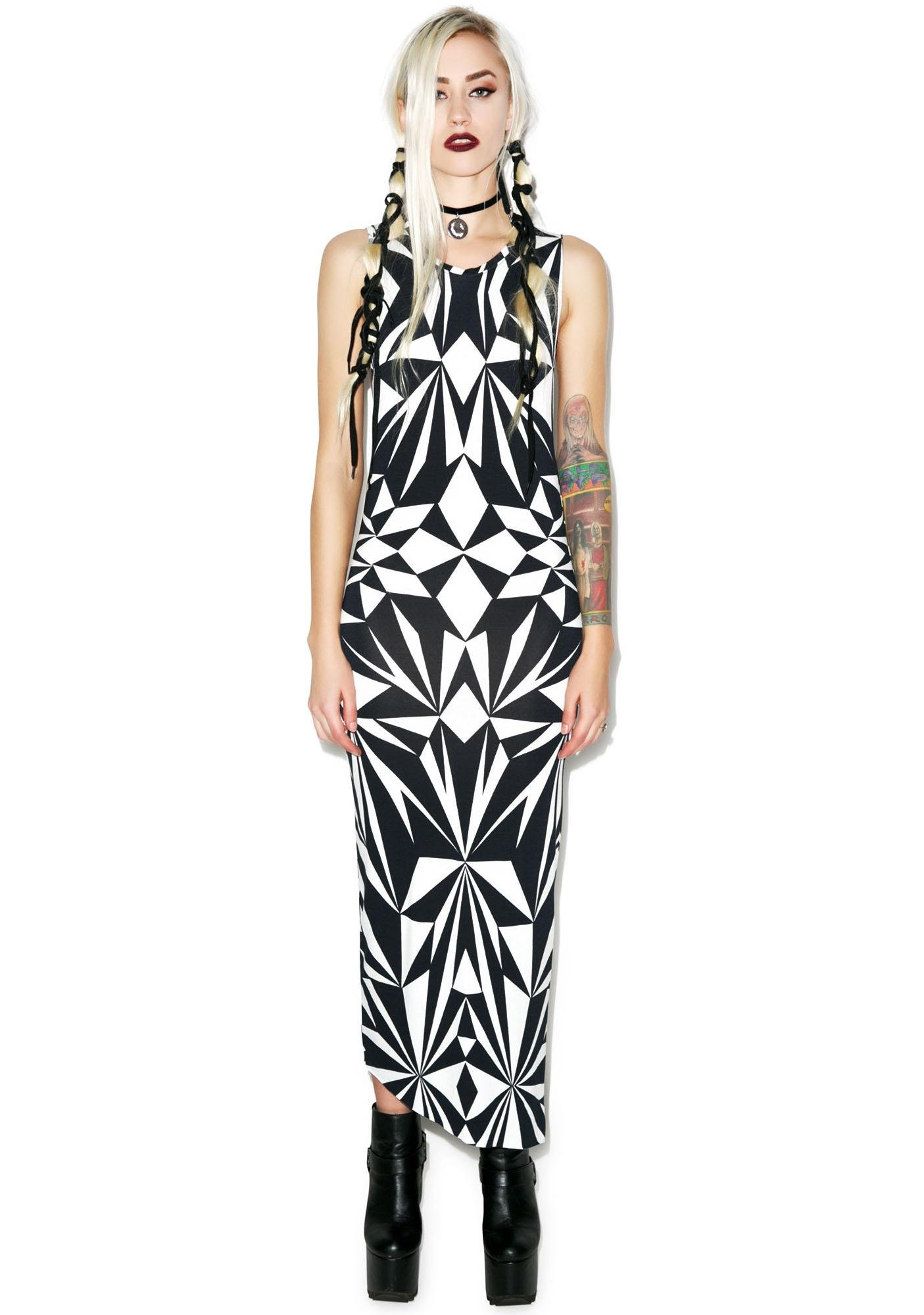 Killstar Fractal Maxi Dress