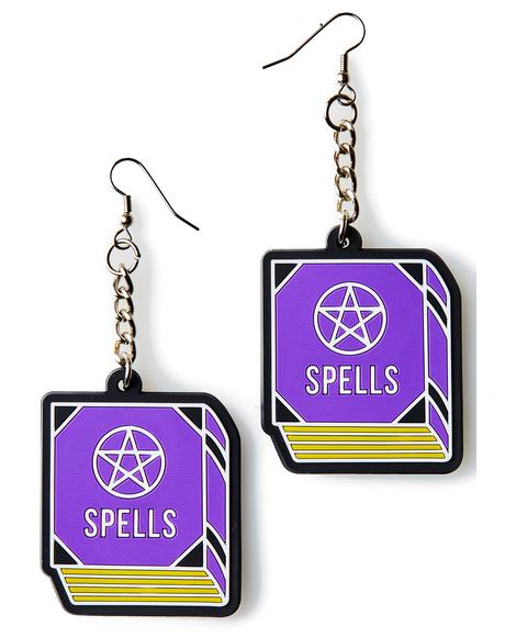 Spell Book 3D Silicone Earrings