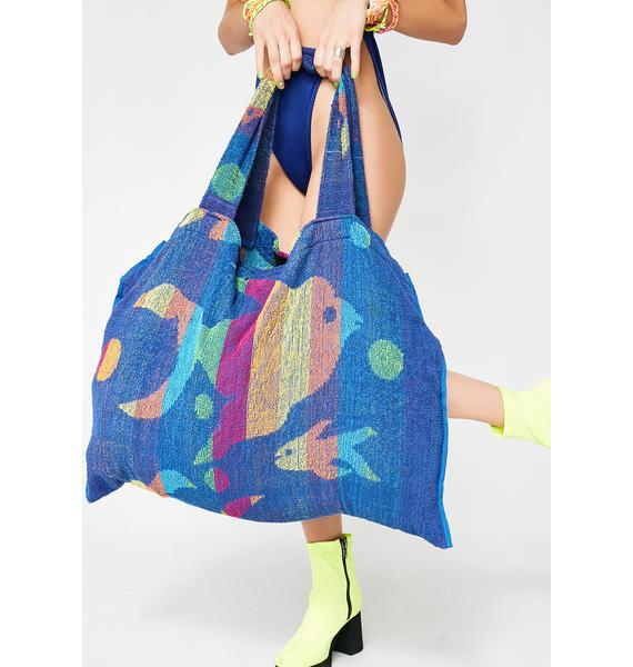 Current Mood Fish Bish Towel Tote