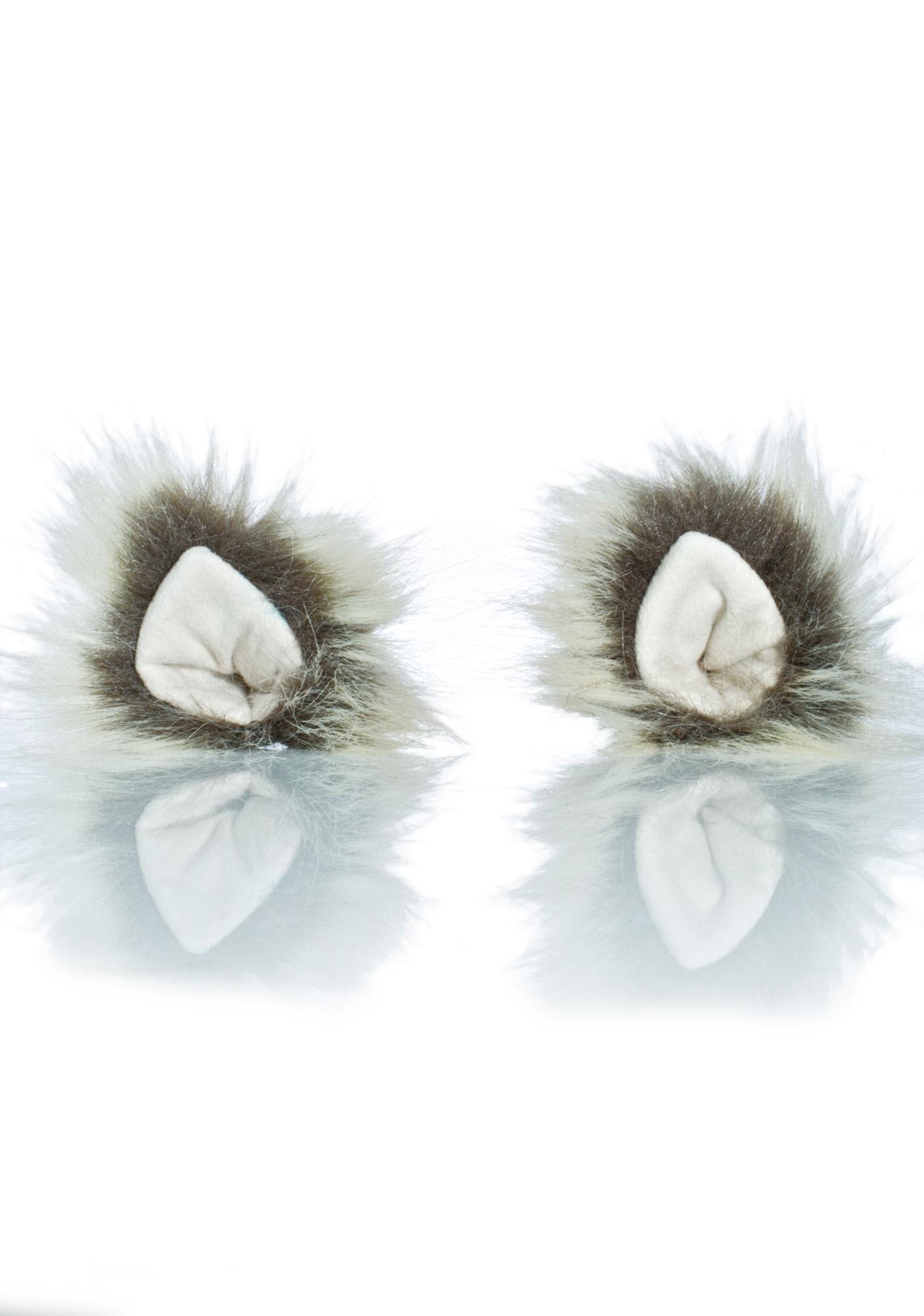 KritterKlips Arctic Wolf Clip In Ears