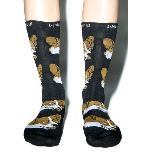 Dog LTD. Welsh Corgi Socks