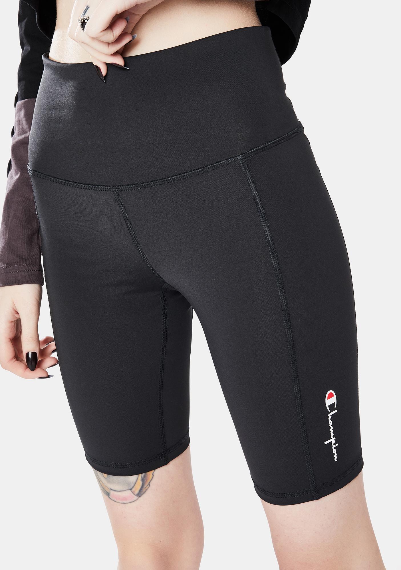 Champion Black High Rise Biker Shorts