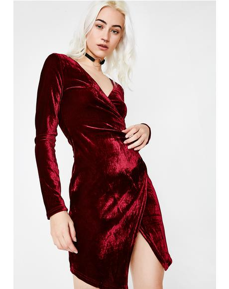 Smokin' In The Boyz Room Velvet Dress