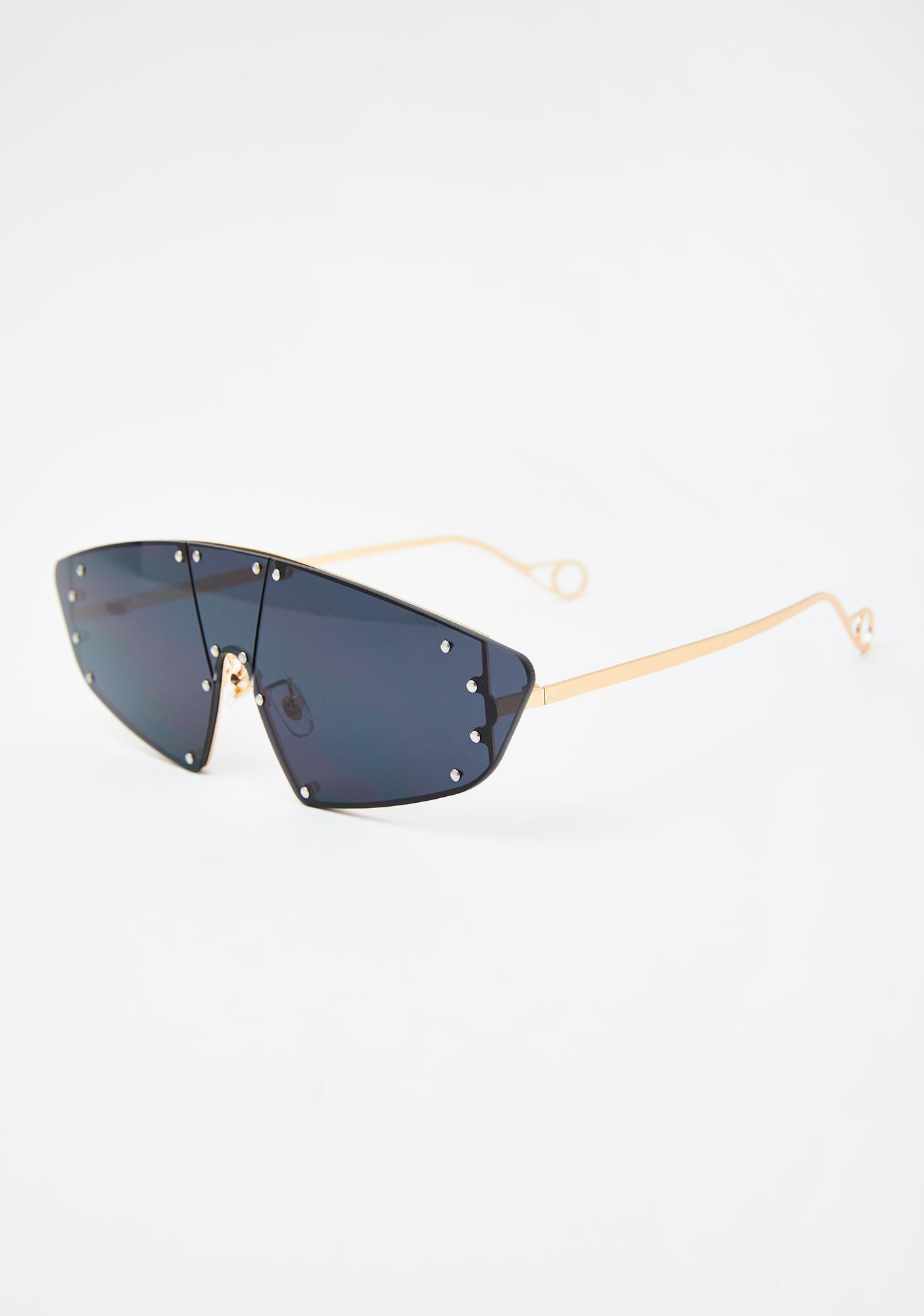 Wicked Hard To Catch Aviator Sunglasses