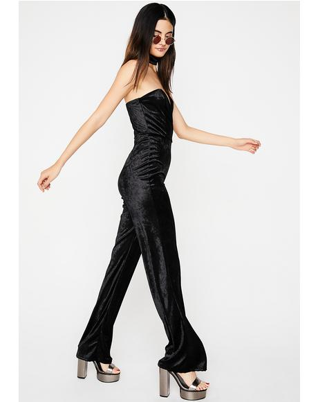 Midnight Last Danze Velvet Jumpsuit
