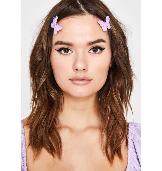 U Gimme Butterflies Hair Clips