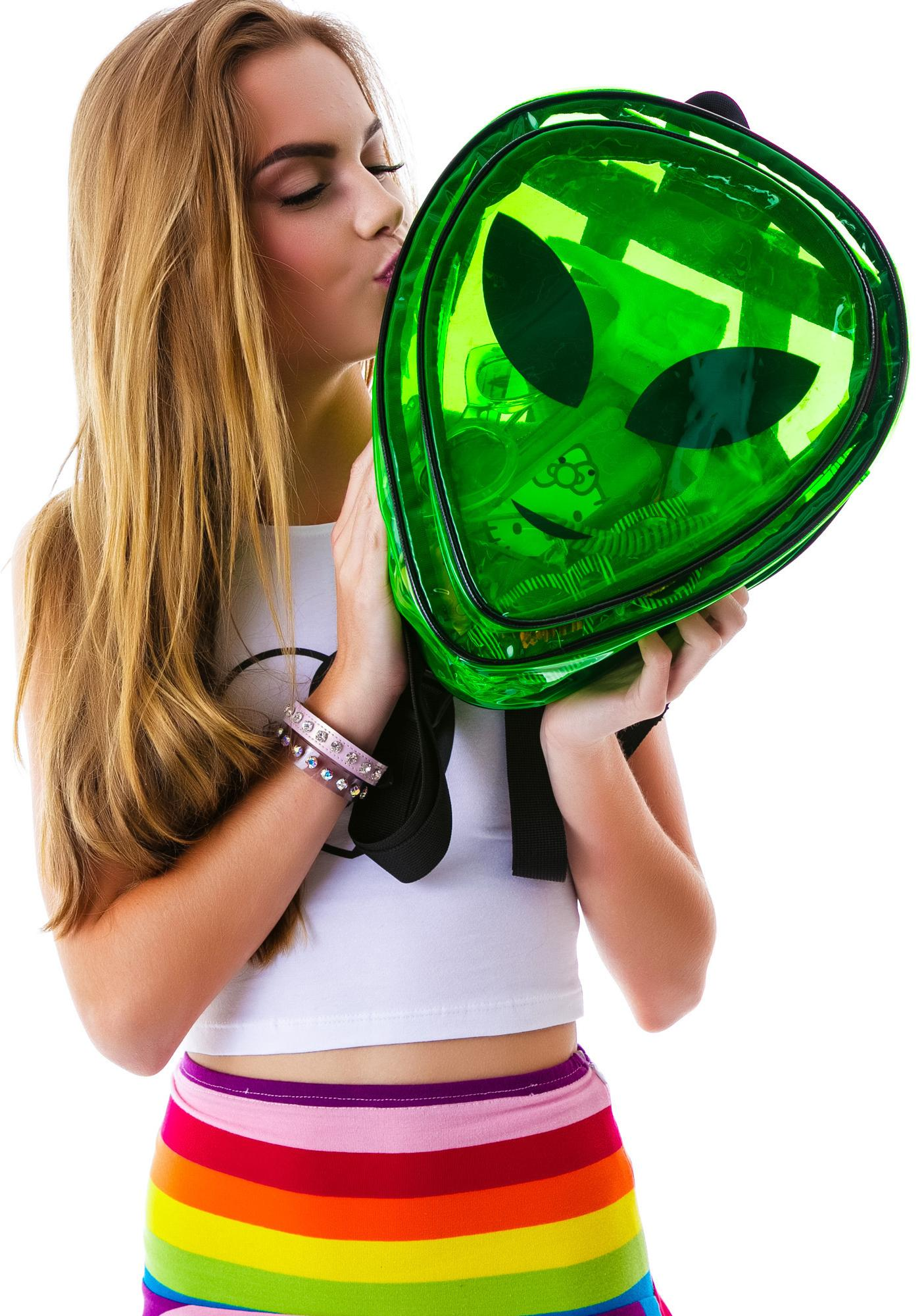 O Mighty Alien Experiment Clear Backpack