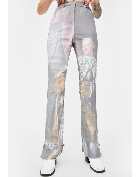 George III Print Adjustable Trousers