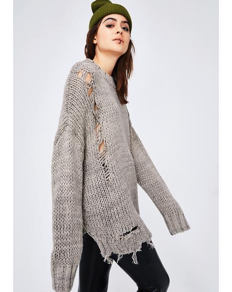 Fixer Upper Pierced Sweater