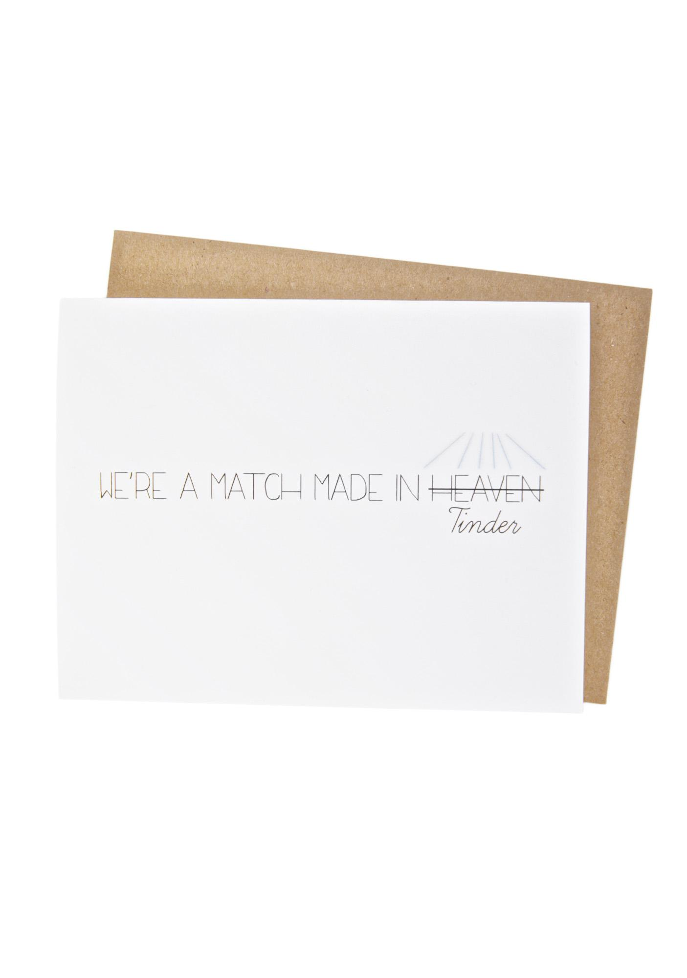It's A Match Card