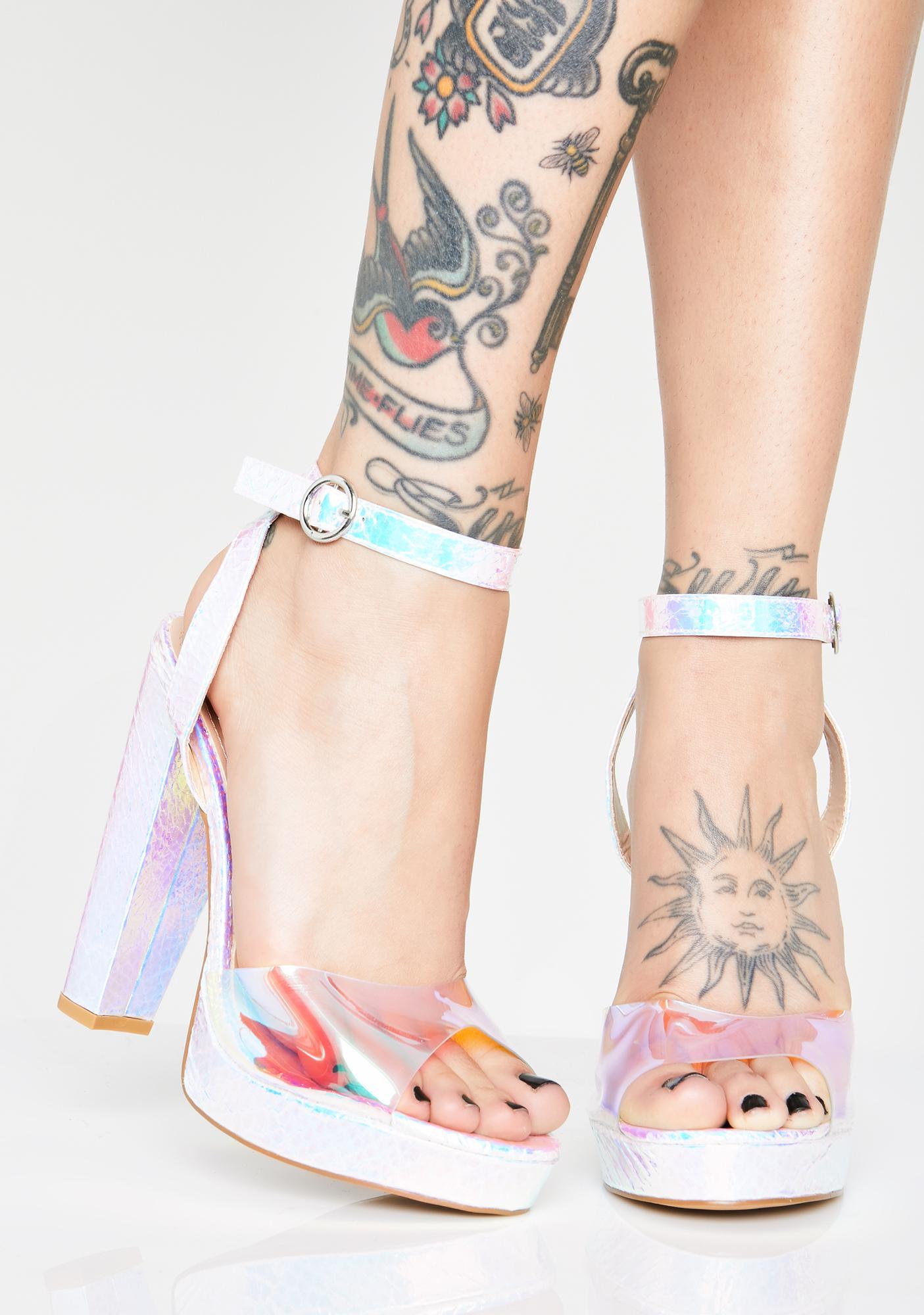Astro Strut Holographic Heels