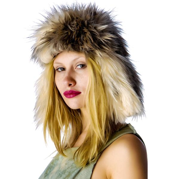 United Couture Foxy Foxy Ear Flap Hat