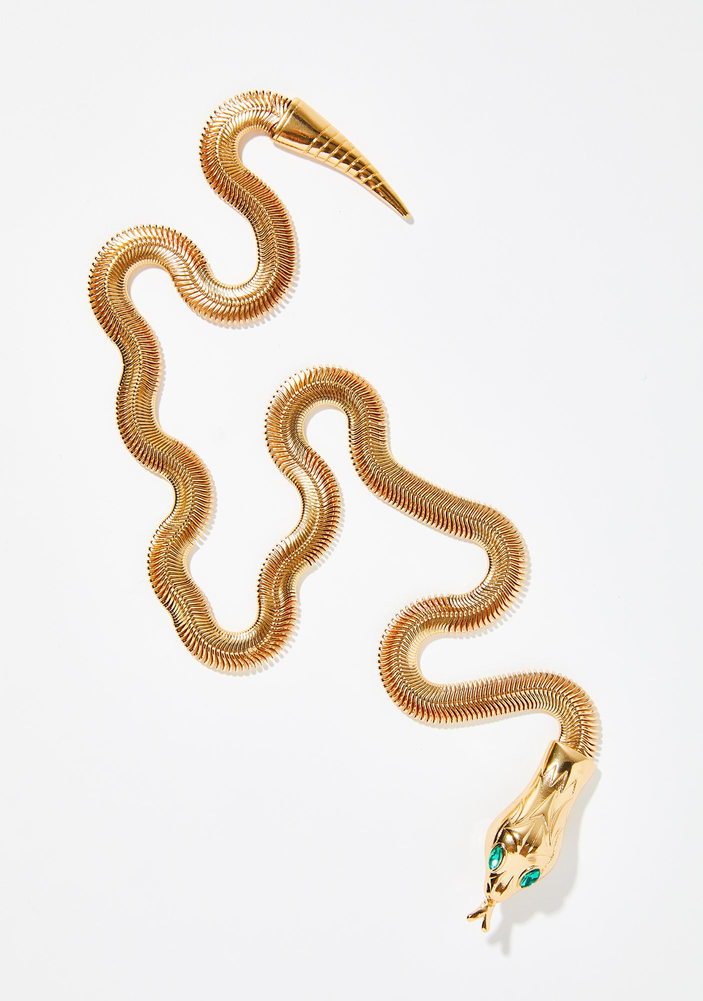 Poison Sting Serpent Tail Necklace