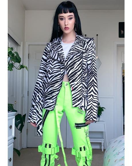 Zebra Wild Child Moto Jacket