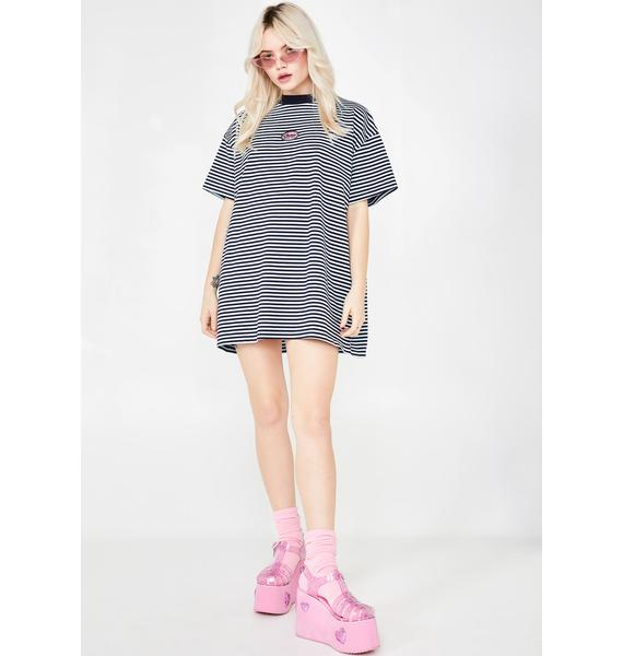 Lazy Oaf Lazy Stripe Oversized T-Shirt