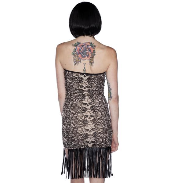Lip Service Skull on the Wing Dress