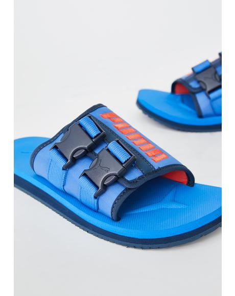 Blue Wilo Lux Nylon Slides