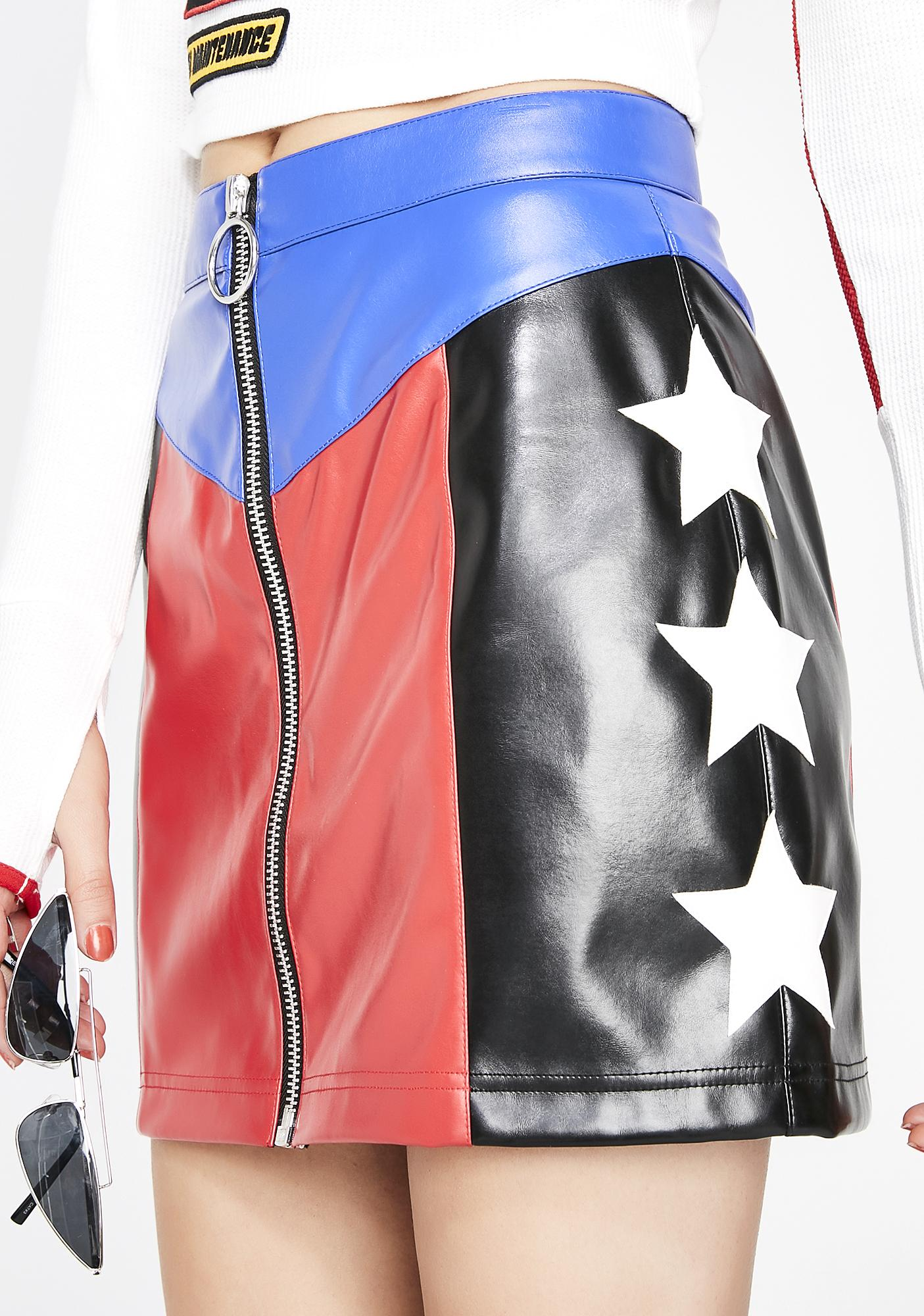 Current Mood Stunt Double Star Skirt