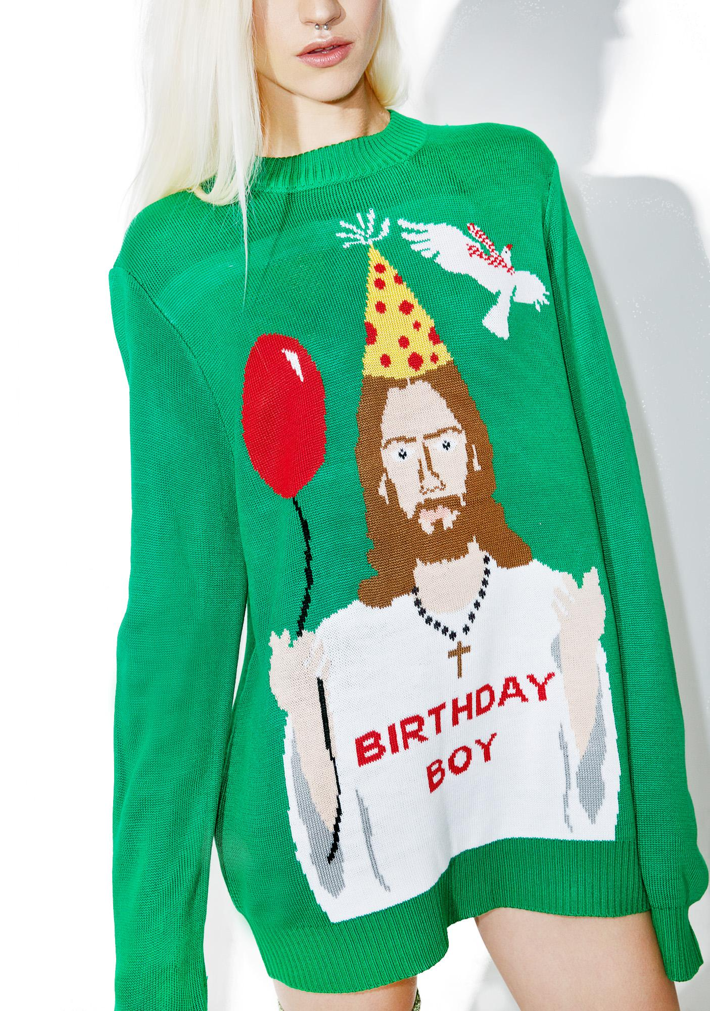 Tipsy Elves Happy Birthday Jesus Sweater