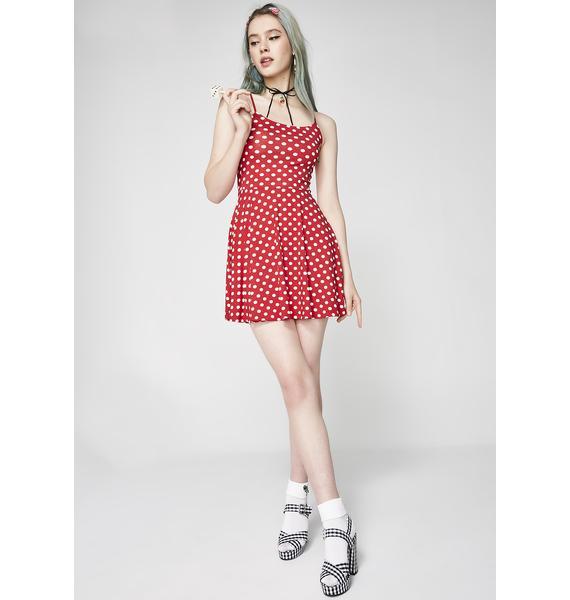 Not So Innocent Polka Dot Dress