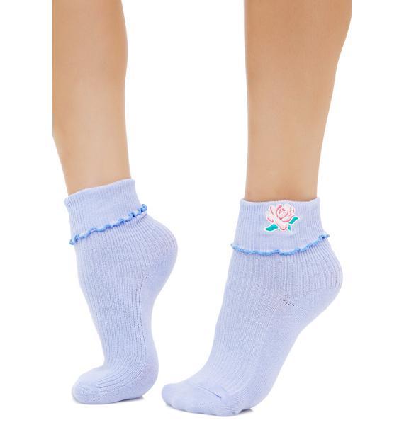 Lazy Oaf Rose Ruffle Socks