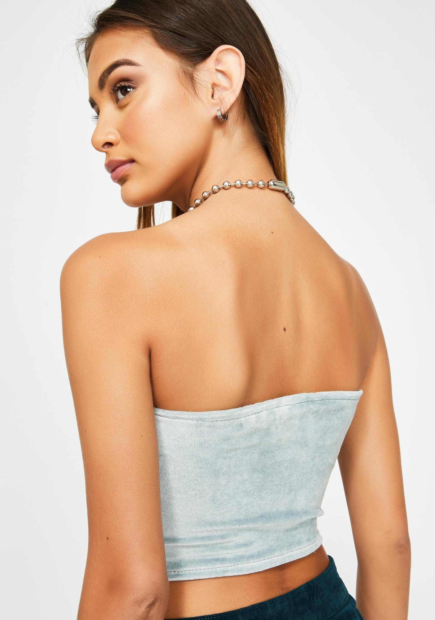 ZEMETA Sky Corduroy Light Tube Top