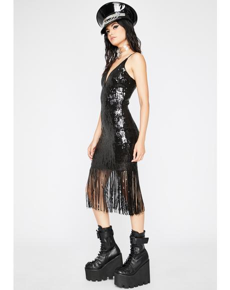 Night Groover Sequin Dress