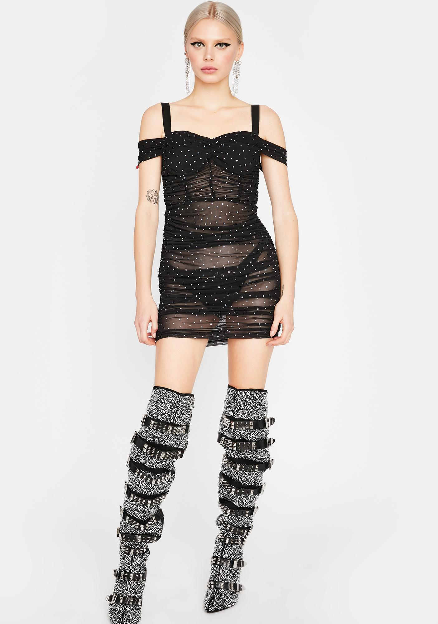 Stay Lit Mesh Dress