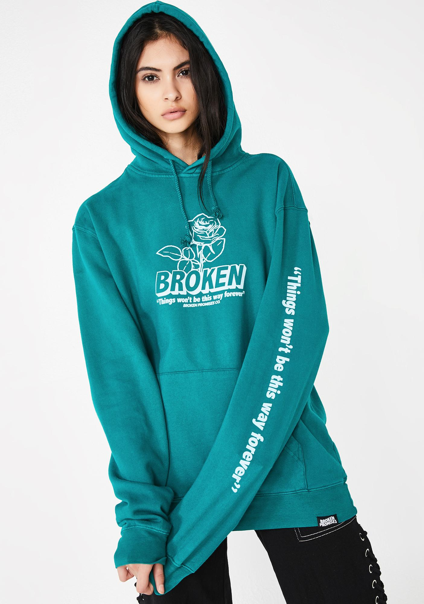 BROKEN PROMISES CO Evermore Overdyed Graphic Hoodie