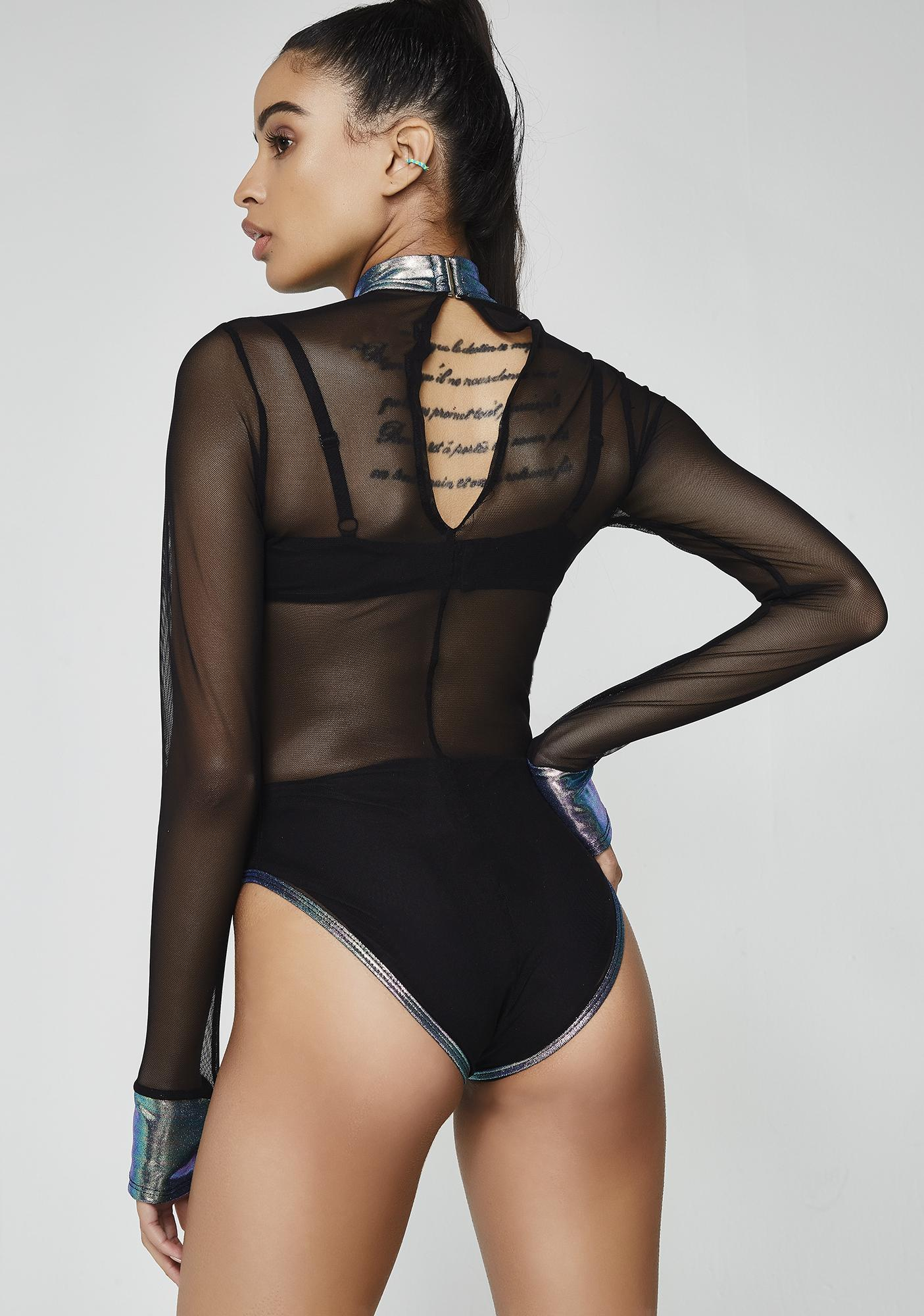 Intergalactic Sass Sheer Bodysuit
