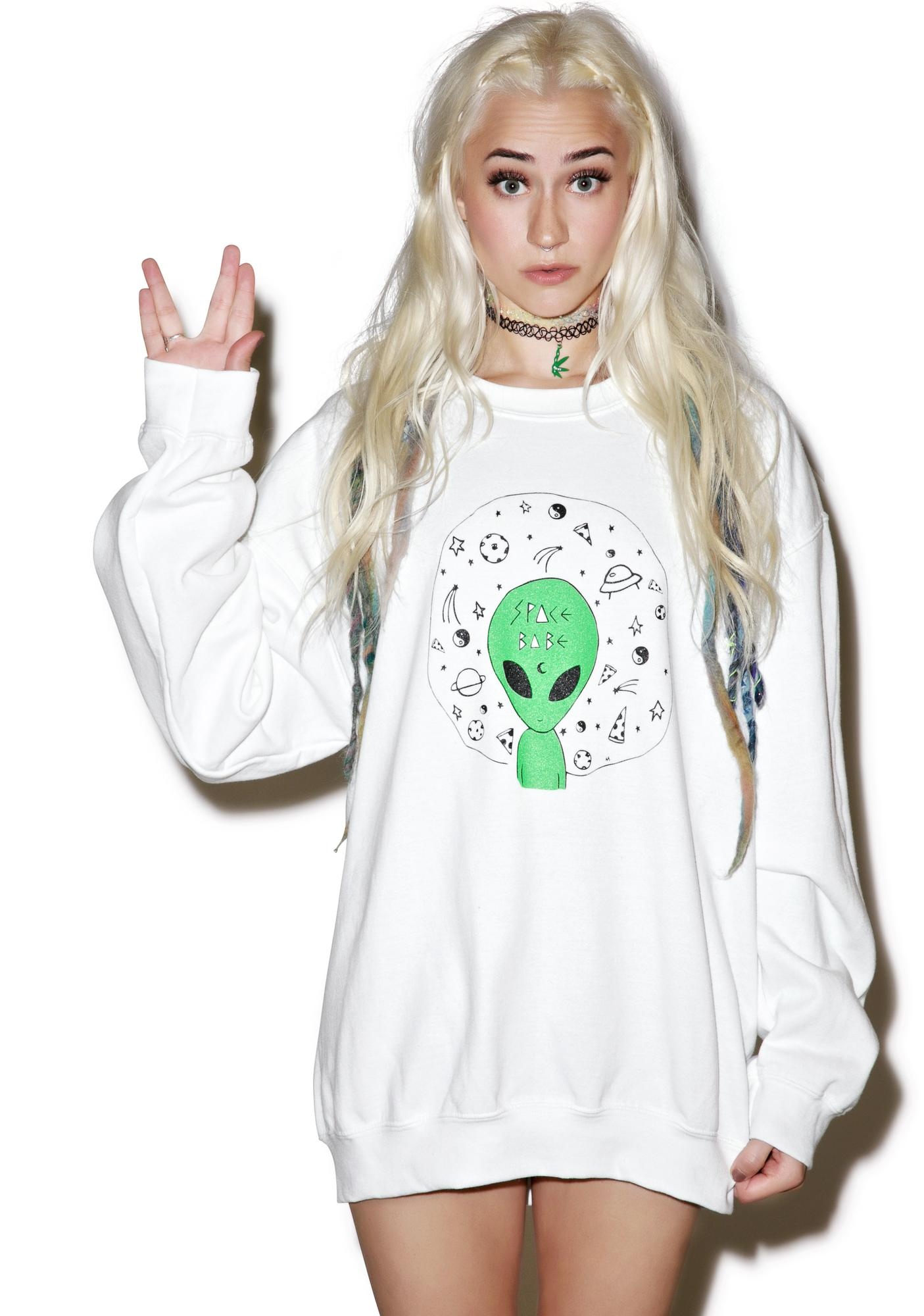 Moon River Collective Space Babe Sweatshirt