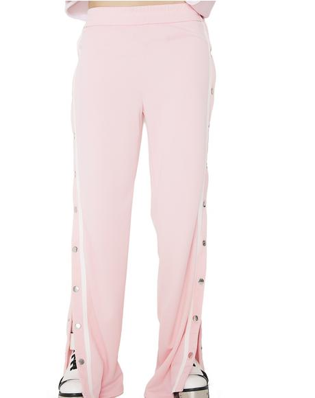 Blush Winner Takes All Snap Track Pants