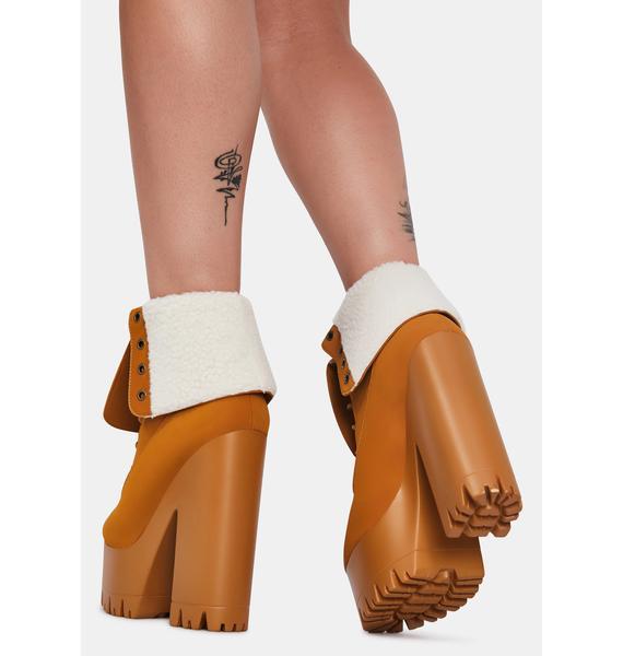 Lemon Drop by Privileged Camel Riana Platform Boots