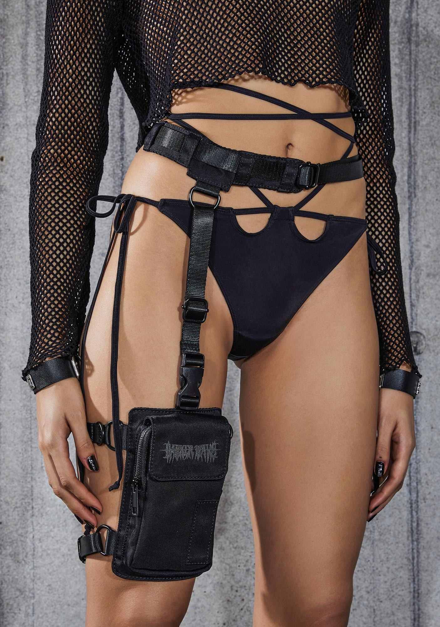 DARKER WAVS Snare Leg Garter Utility Belt Bag