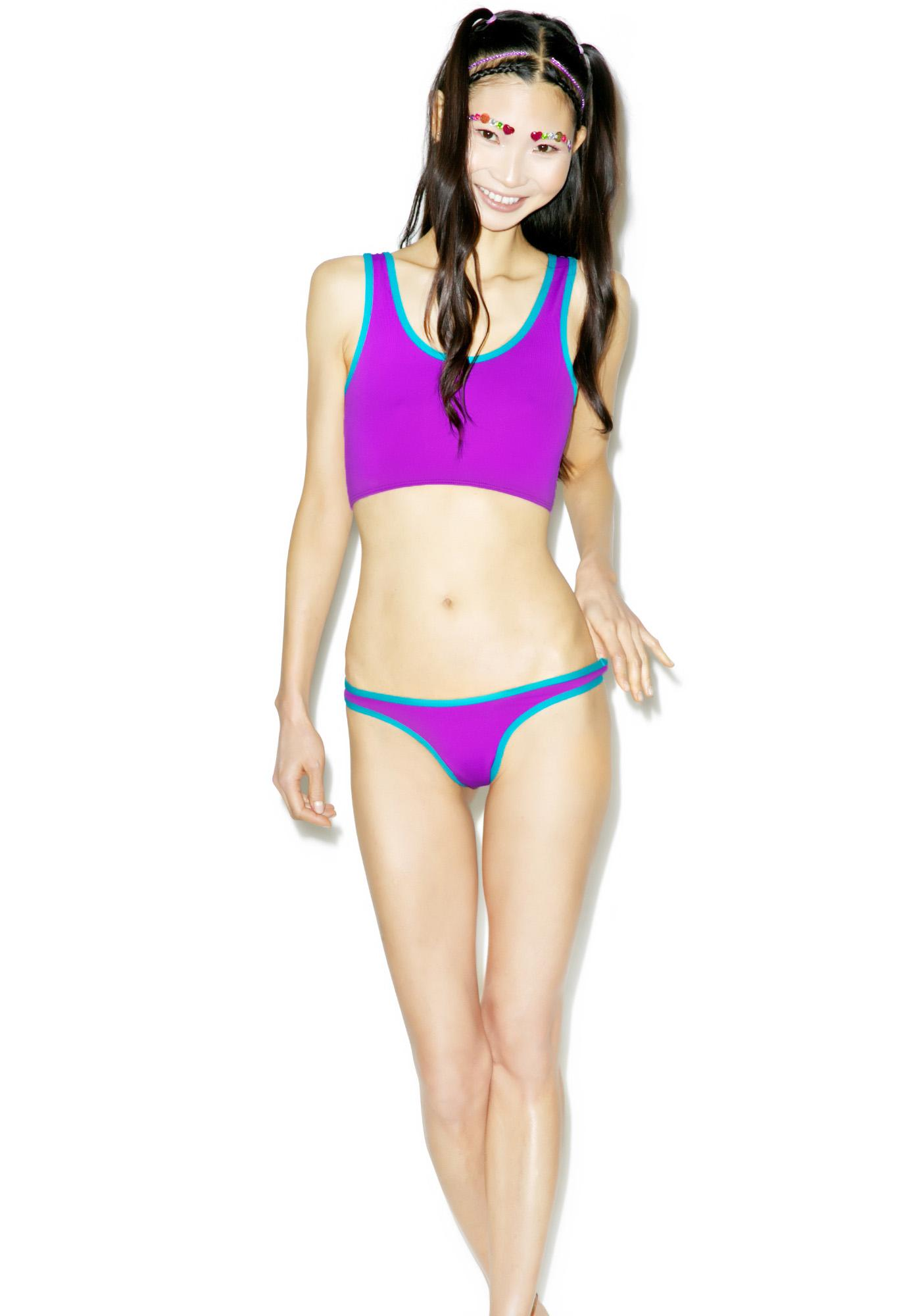 Mandalynn Swim Purple Sport Swim Bottom