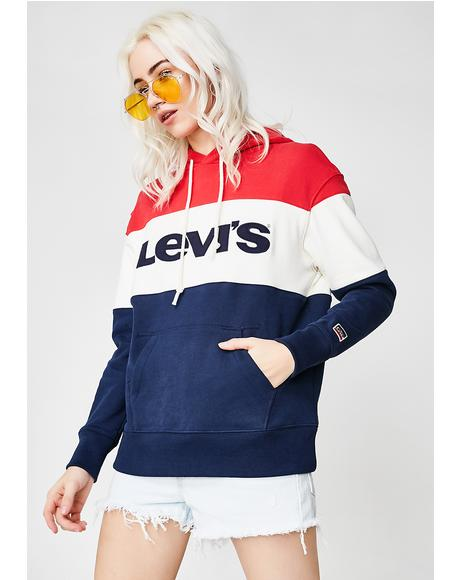 Retro Colorblocked Sweatshirt
