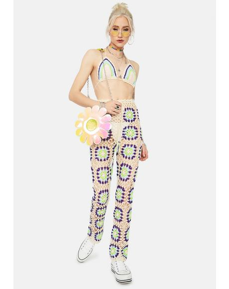 Sun Dazer Crochet Pant Set