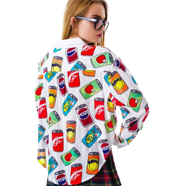 Lazy Oaf Nice Cans Crop Shirt