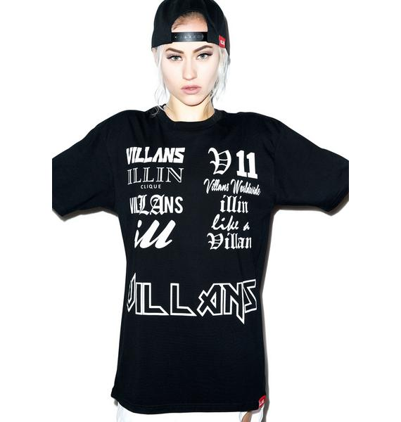 Villans Sample Script Tee