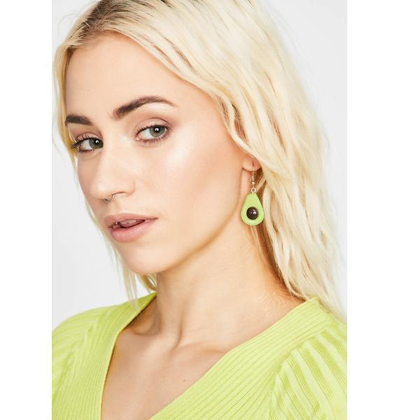 Avocado Toast Drop Earrings