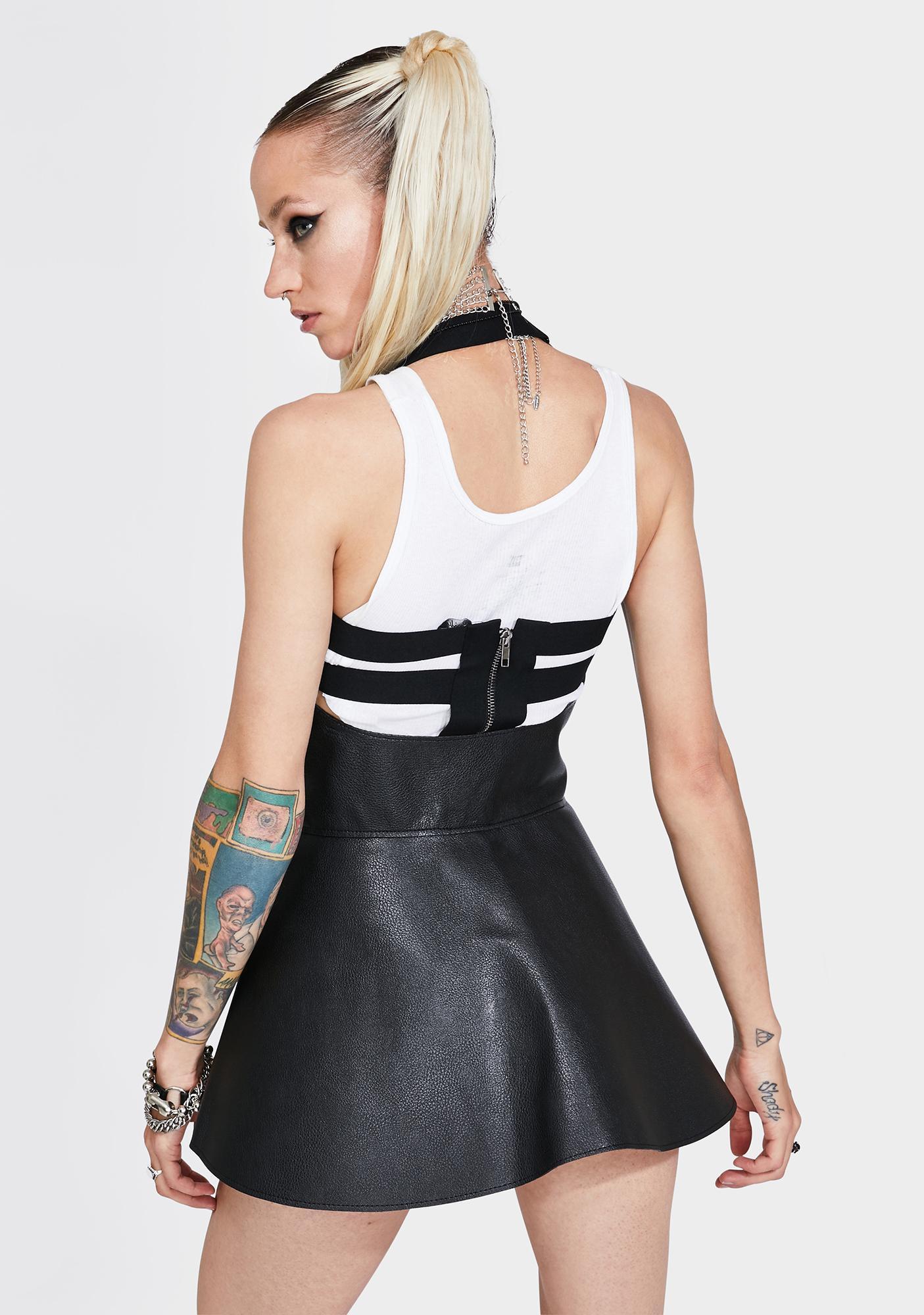 Kiki Riki Never Satisfied Mini Skirt Belt