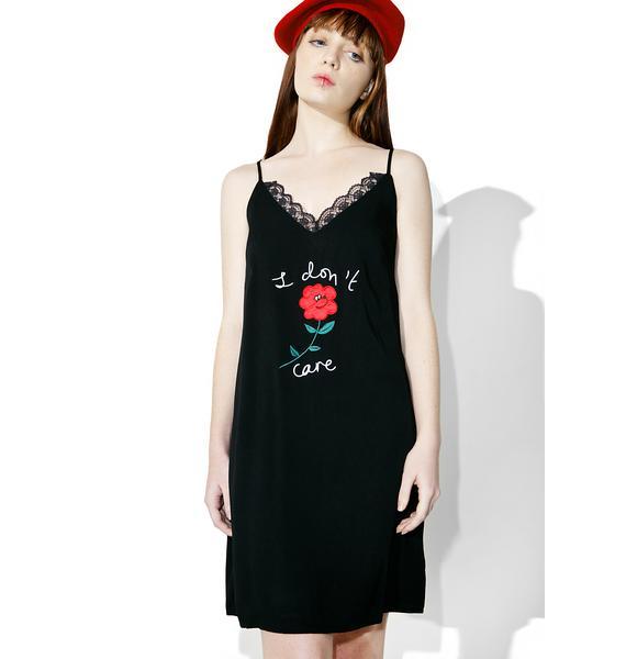 Lazy Oaf I Don't Care Cami Dress