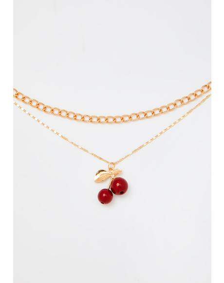Picky Taste Cherry Necklace