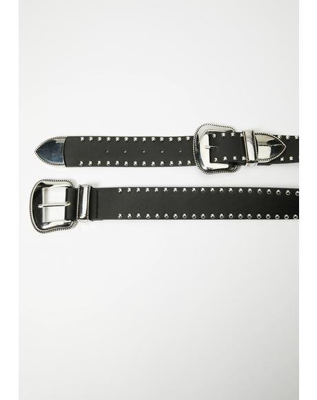Blazin' Rider Buckle Belt