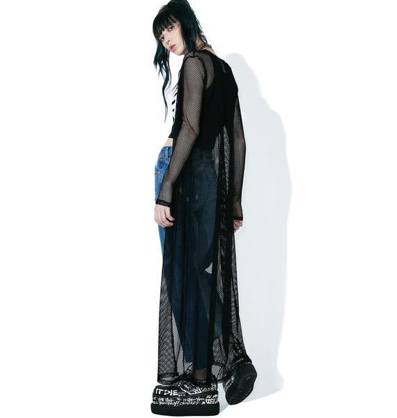 Hellion Fishnet Kimono