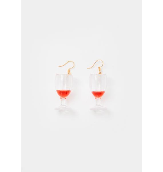 Wine O'Clock Drop Earrings