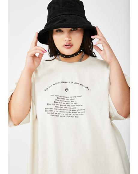 Plus Commandments Graphic Tee